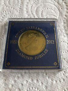 Queen Elizabeth Diamond Jubilee Coin 1952-2012 In Plastic Case