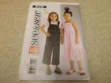 See & Sew B4158 Easy Girls Overalls & Jumper Sewing Pattern Size 6 7 8 Uncut
