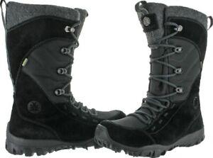 Icebug Women's Daphne-L BUGrip Winter Ice Insulated Waterproof Snow Black Boots