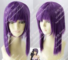 cosplay wig Ghost in the Shell Kusanagi Motoko Purple short straight hair wig