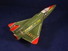 Ancien jouet avion de chasse combat militaire armée convair F-106 tôle Japan 60