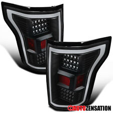 For 2018-2020 Ford F150 Black LED DRL Bar Tail Lights Brake Lamps Pair