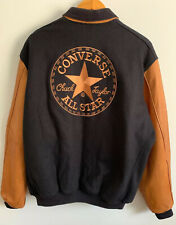 Converse Embroidered Golden Bear Varsity Jacket Leather Wool Size XLT EXCELLENT