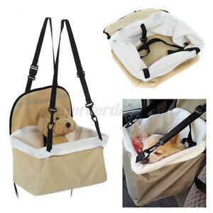 Folding Pet Dog Cat Puppy Car Seat Safety Travel Booster Belt Carrier Bag Basket