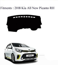 Anti-Slip Black Dash mats for 03/2017 - 2018 KIA Picanto 5dr Hatch