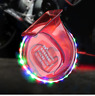 12V 105-118dB Universal Single Sound Snail Horn With LED Lights-Red Body
