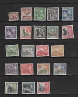 MALTA 1948-53 SELF-GOVERNMENT SET OF 21  (SG 234/248) MINT