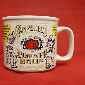 Campbell's Soup Vintage Tomato 1999 Gold, Red, White label American Cup Mug Kids