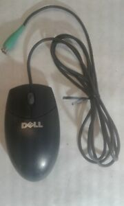 Dell Wired Roller Ball Mouse PS/2 Black - Dell MO71KC