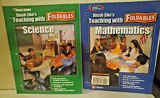 Glencoe Mathematics & Science 8th Dinah Zike's FOLDABLES Hands on Manipulatives