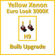 Warm White 3000K Yellow Xenon Headlight Bulbs Main Dip Beam or Fog H9 65W (x2)