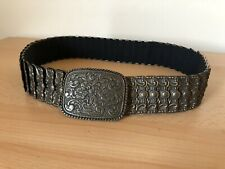 Ladies Metal Stretchy Wide Western Cowgirl Belt 78-150cm Hippie Gypsy Boho