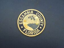Vintage Escambia County Florida Patch -Front Art Beach Scape with Air Force Jets