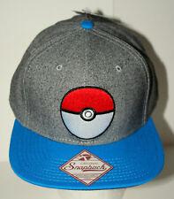 Nintendo Pokemon Poke Ball Baseball Hat Cap New Tags OSFM 2017 Snapback