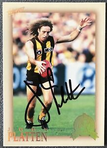 2007 SELECT HALL OF FAME CARD PERSONALLY SIGNED BY JOHN PLATTEN HAWTHORN