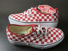 Vans Womens Authentic Platform Checkerboard Racing Red White shoes Size 7.5 NWT