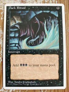 MAGIC THE GATHERING 1995 - Fourth Edition - Dark Ritual - Mint