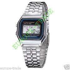 DIGITAL CLASSIC RETRO SPORT Gold / Silver METAL WATCH ALARM STOPWATCH F-91W F91