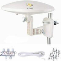 Outdoor TV Antenna,  LAVA HD-8000, Omni-Directional, for 4 TVS, 40ft Cable