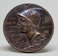 BRAZIL BRASIL/ RIO DE JANEIRO/ RARE ANTIQUE AECRJ Anniversary Medal 1880 - 1900