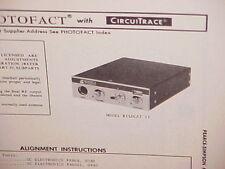 1972 PEARCE-SIMPSON CB RADIO SERVICE SHOP MANUAL MODEL WILDCAT II