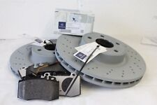 Genuine Mercedes-Benz R230 SL Front Brake Discs and Pads With Sensor NEW
