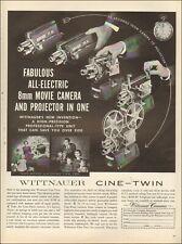 1959 Vintage ad WITTNAUER Cine-Twin `retro movie camera`photo    122019