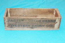 VINTAGE WESTERN DAIRY CO. - PASTURE QUEEN BRAND  - DOVETAIL BOX - 3lbs