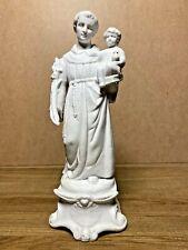 SAINT ANTOINE ET ENFANT JESUS, ANCIENNE STATUE RELIGIEUSE, BISCUIT  XIXEME