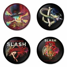 Slash, Guns, Velvet Revolver, B - 4 chapas, pin, badge, button