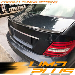 AMG C63 Carbon Rear Trunk Lip Spoiler Wing for Mercedes-Benz C W204 Sedan 08-14