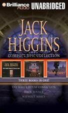 JACK HIGGINS UNABRIDGED CD COL White House Connection Dark Justice Without Mercy