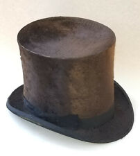 "ANTIQUE c. 1888 FARNSWORTH & Co BOSTON, MASS. SILK TOP HAT ~ 7"" H"