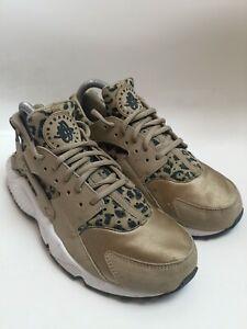 Nike Air Huarache Run Leopard Brown Trainers Size UK 6