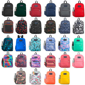JanSport Cross Town 100% Authentic School Backpack With Front Pocket 13x8.5x17