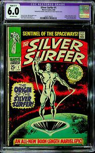 Silver Surfer #1 (Aug 1968, Marvel) - CGC Restored 6.0 Slight (C-1)
