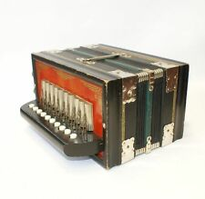 Parsifal Melodeon Vintage Accordion Antique One Row German Made Instrument Box