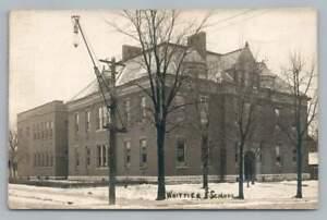 Whittier School INDIANAPOLIS Windsor Park RPPC Antique Photo Postcard 1914