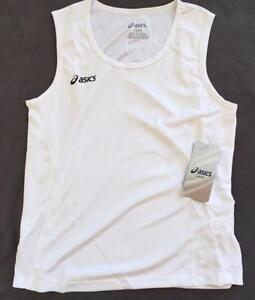 ASICS Girl's Jr Baseline Jersey White Size Medium Athletic Tee T-Shirt Tank