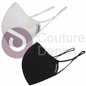 Face Mask Anti-Microbial Cotton Fabric Washable Reusable Hygienic Face Shield