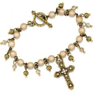 NWT Brighton ISABELLA CROSS TOGGLE Bracelet MSRP $78