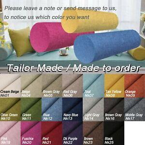 Tailor Made*COVER*Linen cotton Blend Bolster Long Tube Yoga Roll Pillow Case*Nk