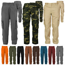 Men's Cotton Casual Tactical Utility Multi Pocket Cargo Military Work Pants