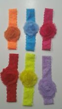 Girl Lace Headband Toddler Infant baby hair accessories 6 pcs easter spring