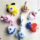 Kpop BTS BT21 Soft Plush Keychain Doll Key Ring CHIMMY COOKY MANG KOYA Stuff Toy