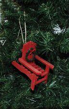 Red Adirondack Chair Christmas Ornament