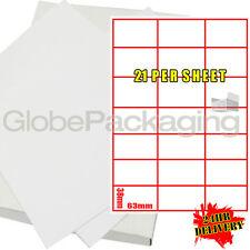 200 Hojas De Impresora dirección Etiquetas de Laser 21 por página