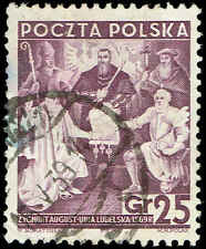 Scott # 324 - 1938 -  ' Treaty of Lublin '