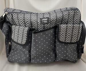 Carter's Child of Mine Diaper Bag 3 Pocket Zipper Shoulder Strap Gender Neutral