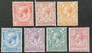 DUZIK: GB KGV 1912-24 Wmk Royal Cypher Mixed Unused Stamps (No346)**